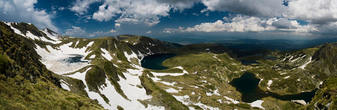 Lakes in mountain royalty free stock photography