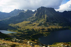 Lakes in mountains Stock Image