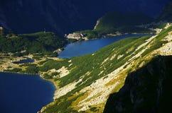 Lakes in mountains Royalty Free Stock Photo
