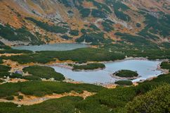 Lakes in mountains. Stock Image