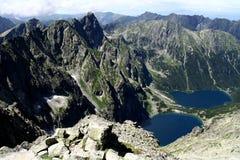 Lakes in the mountains. Lake in the mountains Poland stock image