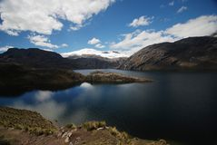 Lakes and mountains in Peru stock photography