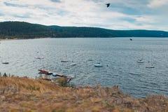 Lakes name Turgoyak Royalty Free Stock Photos