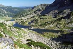 Lakes on National Park Retezat. Lakes on Bucura glacial circus from National Park Retezat Stock Images
