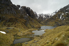 Lakes near  Harris Saddle, Routeburn Track, New Zealand Stock Photography