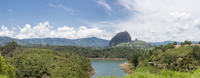 Lakes and the Piedra el Penol at Guatape in Antioquia, Colombia Royalty Free Stock Photo