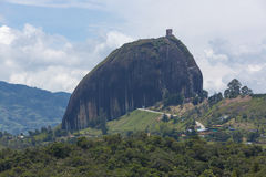 Lakes and the Piedra el Penol at Guatape in Antioquia, Colombia Stock Image
