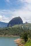 Lakes and the Piedra el Penol at Guatape in Antioquia, Colombia Stock Photo