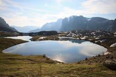 Lakes plans. (Dolomites) - Trentino South Tyrol Royalty Free Stock Photos