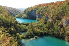 Lakes in Plitvice Stock Image