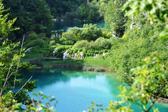 Lakes in Plitvice Kroatie Royalty Free Stock Images