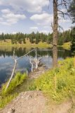 Lakes and rivers in Yellowstone National Park. In Wyoming stock images