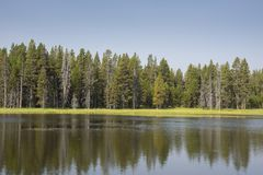 Lakes and rivers in Yellowstone National Park. In Wyoming stock image