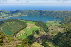 Lakes of Santiago and 7 cidades Royalty Free Stock Images