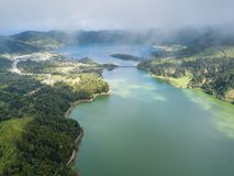 Lakes in Sete Cidades on San Miguel island. Lakes in Sete Cidades on San Miguel island - Portugal stock photography