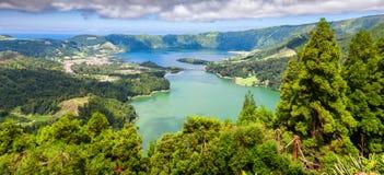 Lakes of Sete Cidades  in Sao Miguel, Azores Stock Photography