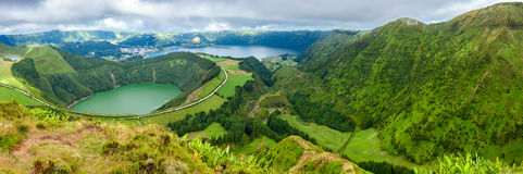 Lakes of Sete Cidades  in Sao Miguel, Azores Royalty Free Stock Photography