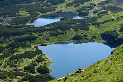 Lakes in Tatry mountains Stock Images