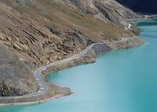 Lakes in  Tibet. Yanmdrok lake in Gyantse,Tibet Stock Image