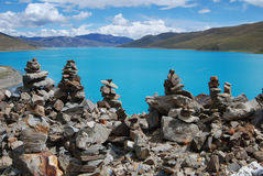 Lakes in  Tibet Royalty Free Stock Image