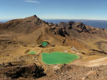 Lakes in Tongariro Crossing, New Zealand Stock Photo