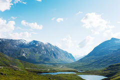 Lakes on the top of mountains, Norway Stock Image