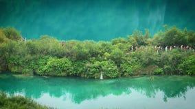 Lakes with waterfall in Croatia, Europe. Location: Plitvice, National Park Plitvicka jezera. stock video