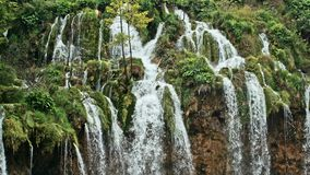 Lakes with waterfall in Croatia, Europe. Location: Plitvice, National Park Plitvicka jezera. stock footage