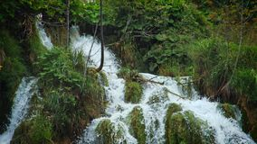 Lakes with waterfall in Croatia. Location: Plitvice, National Park Plitvicka jezera. stock video footage