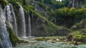 Lakes with waterfall in Croatia. Location: Plitvice, National Park Plitvicka jezera. stock footage