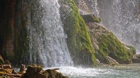 Lakes with waterfall in Croatia. Location: Plitvice, National Park Plitvicka jezera. stock video