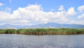 Lakescape,小普雷斯帕湖 免版税库存照片