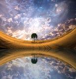 Lakescape surrealista Fotografía de archivo
