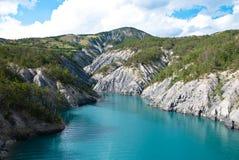 LakeSerre-Ponçon southeast Frankrike Royaltyfria Foton