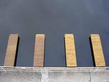 lakeshore αποβάθρες Στοκ εικόνες με δικαίωμα ελεύθερης χρήσης