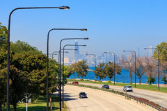 Lakeshore управляйте Чикаго Стоковые Изображения RF