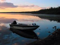 Lakeshore alba Fotografia Stock