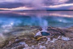 Lakeshore Geyser - West Thumb Basin Yellowstone royalty free stock photo