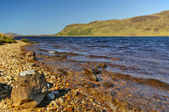 Lakeshore of Loch Loyal, Sutherland, Scotland Stock Images