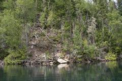Lakeshore op een wildernisgebied royalty-vrije stock foto