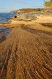 lakeshorelinesuperior Royaltyfri Foto