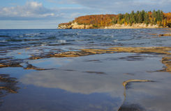 lakeshorelinesuperior Fotografering för Bildbyråer
