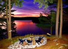 Lakesideöverblick Arkivfoton