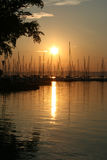 Lakeside. Evening at the balaton lake Royalty Free Stock Image
