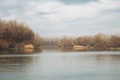 Lakeside autumn landscape Stock Image