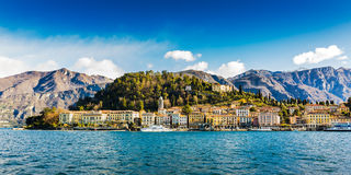 Lakeside av Bellagio, Italien Arkivbild