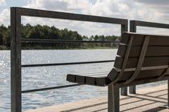 Lakeside Bench Royalty Free Stock Image