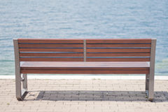 Lakeside bench Stock Image