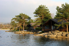Lakeside Chalets Stock Photos