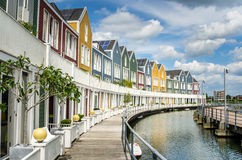 Lakeside Colourful Terraced Houses Stock Photo